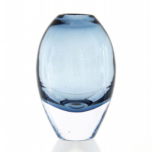 Belgian Glass Vase - Tall - Ink Blue